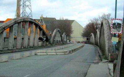 Patrimoine menacé: La rampe du Lion ou Pont Albert à la limite de Bruxelles-ville et Schaerbeek